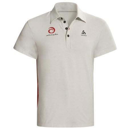 Odlo UPF 50+ Polo Shirt - Short Sleeve (For Men) in Black