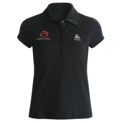 Odlo UPF 50+ Polo Shirt - Short Sleeve (For Women) in Black