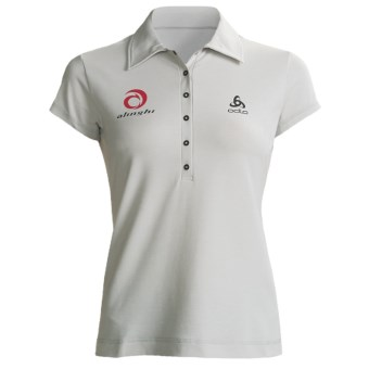 Odlo UPF 50+ Polo Shirt - Short Sleeve (For Women) in Plantina