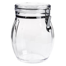 "OGGI Acrylic Barrel Canister - 5x8"" in Clear - Closeouts"