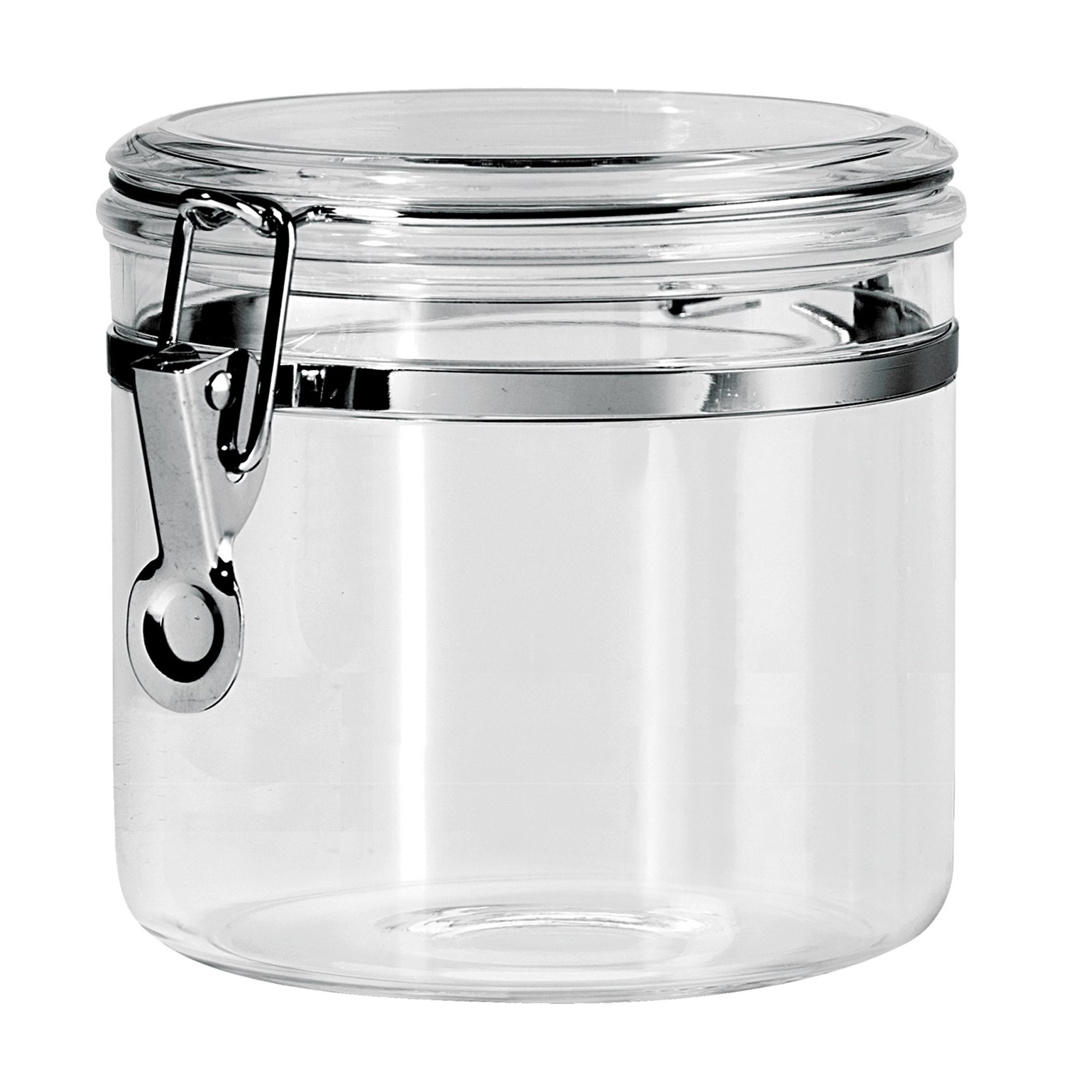 Oggi  Pc Stainless Steel Locking Kitchen Canister Set With Spoons