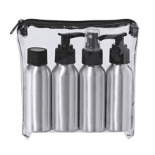 OGGI Aluminum Cosmetic Dispensers Travel Set - 4-Piece in Aluminum - Closeouts