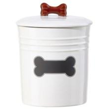OGGI Chalkboard Dog Treat Canister in White - Closeouts