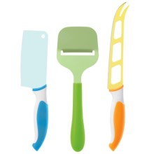 OGGI Colorful Cheese Knife and Slicer Set - 3-Piece in Multi - Closeouts