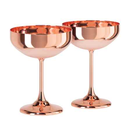 OGGI Copper Coupe Cocktail Glasses - 10 fl.oz. 2-Pack in Copper - Closeouts