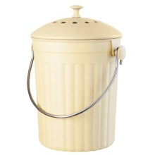 OGGI Countertop Compost Pail - Compressed Bamboo in See Photo - Closeouts