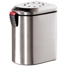OGGI Deluxe Counter Top EZ-Open Composter with Filters - 3.8L in Stainless