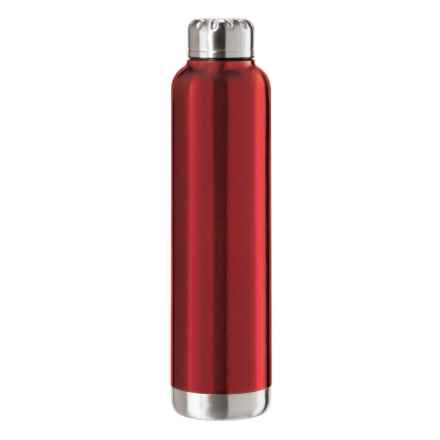OGGI Double-Wall Vacuum-Sealed Wine Carrier - 25 fl.oz., Stainless Steel in Red - Overstock