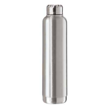 OGGI Double-Wall Vacuum-Sealed Wine Carrier - 25 fl.oz., Stainless Steel in Silver - Overstock