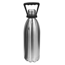 OGGI Double-Walled Beer Growler with Handle - Stainless Steel, 64 fl.oz. in Stainless Steel - Closeouts