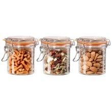 OGGI Glass Mini Canister Set - 3-Piece, 9 fl.oz. in Glass - Closeouts