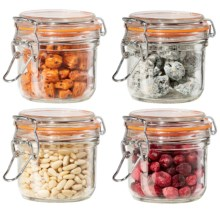 OGGI Glass Mini Canister Set - 4-Piece, 7 fl.oz. in Glass - Closeouts