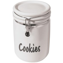 OGGI Jumbo Cookie Jar - Ceramic in White - Closeouts