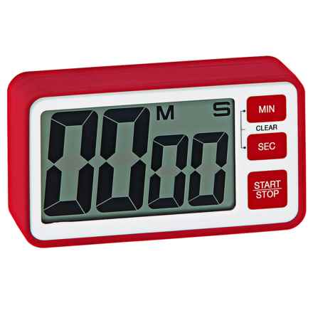 OGGI Large Display Digital Timer - Magnetic in Red - Closeouts