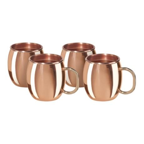 OGGI Moscow Mini Mule Shot Mugs - 2 fl.oz., 4-Piece Set in Copper
