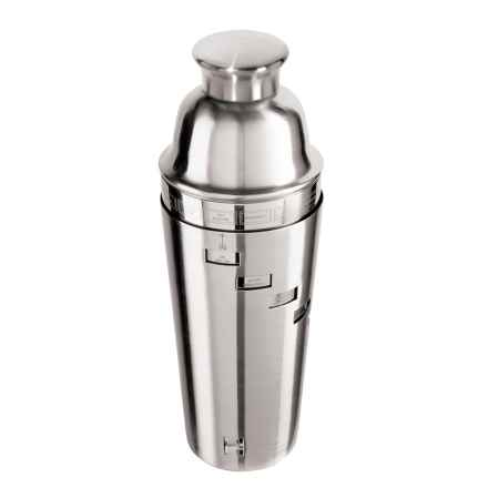 Oggi OGGI Dial-a-Drink Stainless Steel Cocktail Shaker - 34 fl.oz. in Nickel - Closeouts