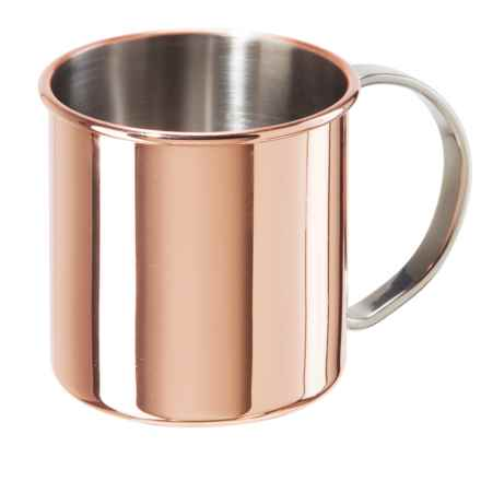 Oggi OGGI Moscow Mule Mug - Copper-Plated Stainless, 16 fl.oz. in Copper / Stainless Steel - Overstock