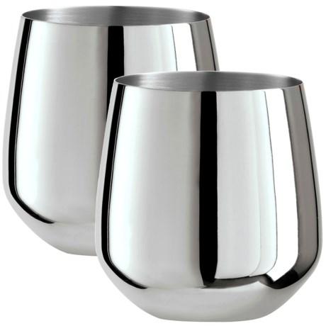 Oggi OGGI Stainless Steel Stemless Wine Glasses - Set of 2, 17 fl.oz.
