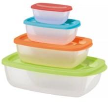OGGI Rectangular Storage Container Set - BPA-Free, 4-Piece in Multi - Closeouts