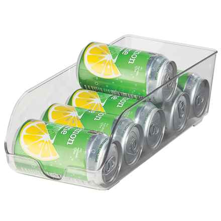 "OGGI Refrigerator Storage Soda Can Holder - 13.5x5"" in Clear - Overstock"