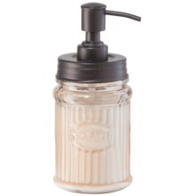 OGGI Round Stainless Steel and Glass Lotion/Soap Dispenser in Bronze - Overstock