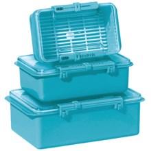 Oggi Snap N Seal Container Set - 3-Piece in Aqua - Overstock