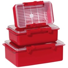 Oggi Snap N Seal Container Set - 3-Piece in Red - Overstock