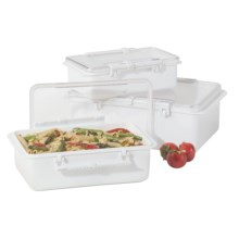 Oggi Snap N Seal Container Set - 3-Piece in White - Overstock