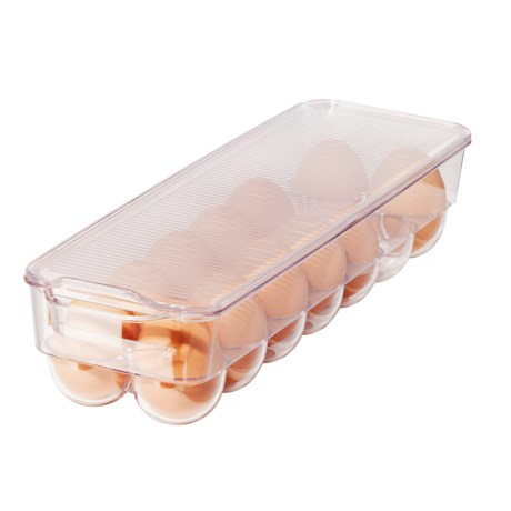 OGGI Stackable Refrigerator 14-Egg Tray in Clear