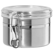 "OGGI Stainless Steel Canister - 5x3-5/8"", 26 oz. in Stainless - Overstock"