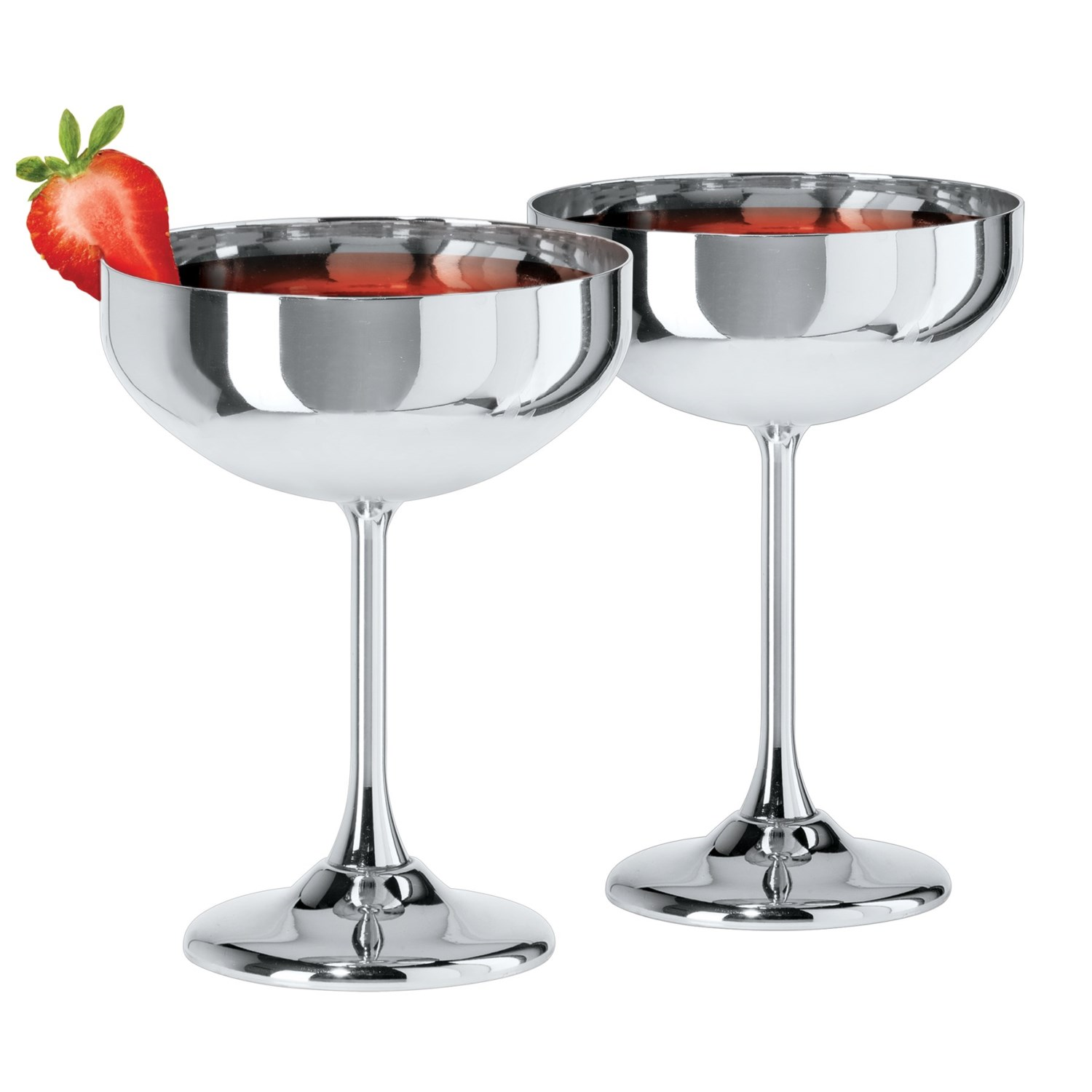 Oggi stainless steel coupe cocktail glasses 10 2 for Cocktail 51
