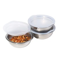 OGGI Stainless Steel Pinch Bowls - Set of 3, 3 oz. Each in Stainless Steel - Closeouts