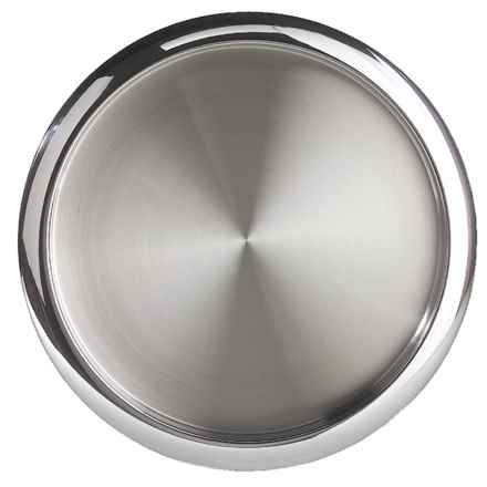 "OGGI Stainless Steel Serving Tray - 14"" in Stainless Steel - Closeouts"