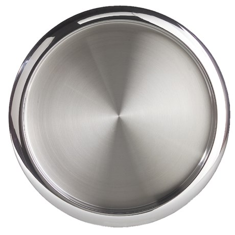 """OGGI Stainless Steel Serving Tray - 14"""" in Stainless Steel"""