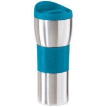 OGGI Stainless Steel Travel Mug - Double Wall, 16 fl.oz. in Aqua - Overstock