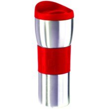 OGGI Stainless Steel Travel Mug - Double Wall, 16 fl.oz. in Red - Overstock
