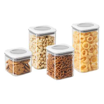 OGGI Twist and Store Airtight Canister Set - BPA-Free, 4-Piece in Clear - Closeouts