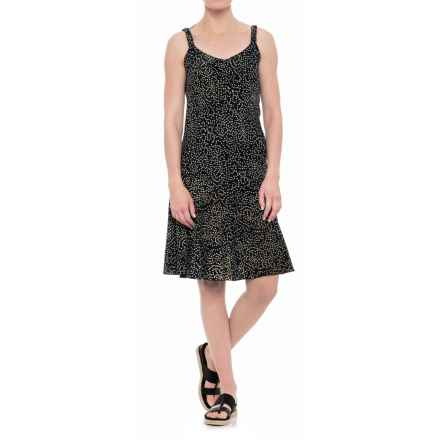 Ojai Batik Salsa Dress - Sleeveless (For Women) in Black Dots - Closeouts