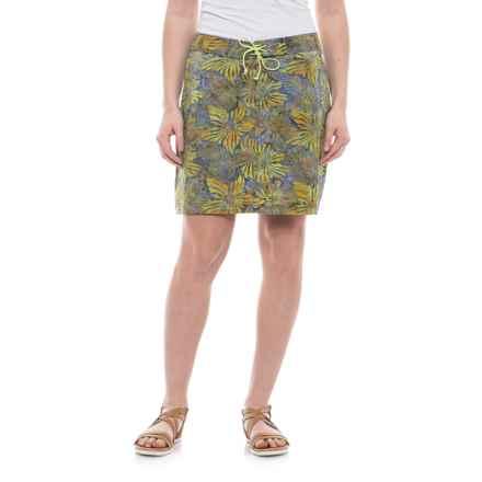 Ojai Batik Stretch Board Skirt (For Women) in Celery - Closeouts