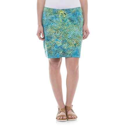 Ojai Batik Stretch Board Skirt (For Women) in Teal Blue - Closeouts