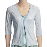 Ojai Burnout Cardigan Shirt - 3/4 Sleeve (For Women)