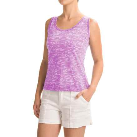 Ojai Burnout Layering Tank Top (For Women) in Iris - Closeouts