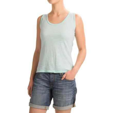 Ojai Burnout Layering Tank Top (For Women) in Turquoise - Closeouts