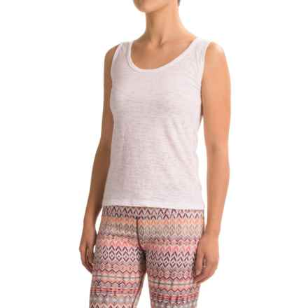 Ojai Burnout Layering Tank Top (For Women) in White - Closeouts