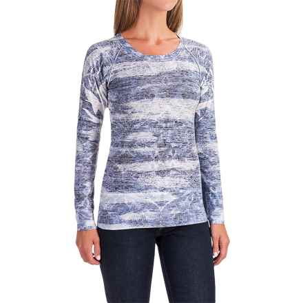 Ojai Burnout Shirt - Long Sleeve (For Women) in Deep Navy Stripe - Closeouts