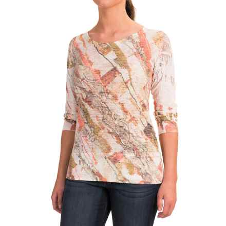 Ojai Burnout Shirt - Long Sleeve (For Women) in Hot Orange Granite - Closeouts