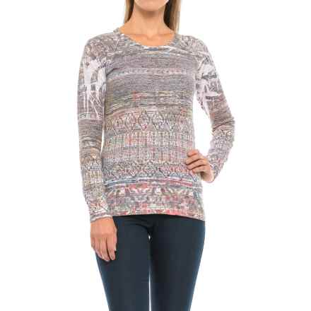 Ojai Burnout Shirt - Long Sleeve (For Women) in Straw Tribal - Closeouts