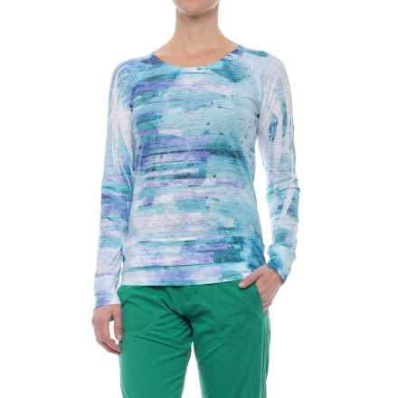 Ojai Burnout Shirt - Long Sleeve (For Women) in Teal Blue Windpower - Closeouts