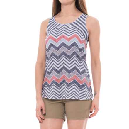 Ojai Burnout Summertime Tank Top (For Women) in Black Chevron - Closeouts