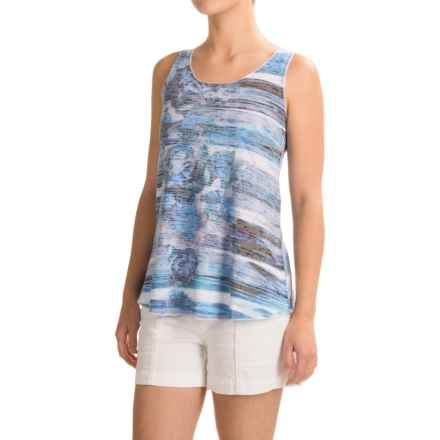 Ojai Burnout Summertime Tank Top (For Women) in Chambray - Closeouts